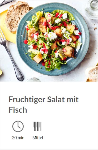 diska - Fruchtiger Salat mit Fisch
