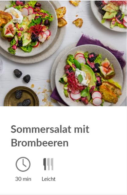 diska - Sommersalat mit Brombeeren